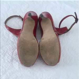 Jessica Simpson Shoes - Jessica Simpson Red Genuine Leather Heels